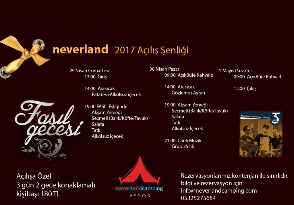 neverland açılış etkinliği